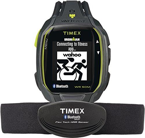 Timex TW5K88000Ironman Run X50+ Antracite/Lime, Unisex & Flex-Tech pettorale