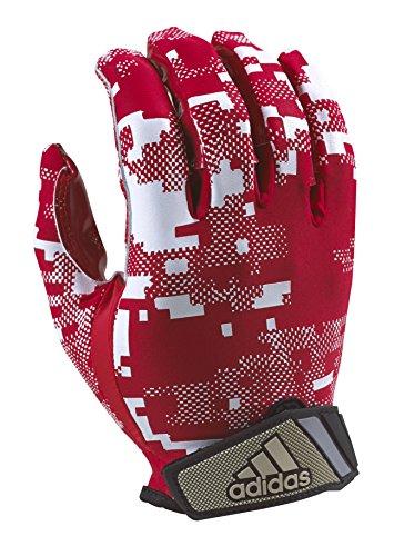 adidas FilthyQuick Digital Receiver American Football Handschuh, rot, Gr. XL
