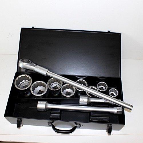 Boîte à noix de jeu de clés à cliquet et douilles SW 36 à 70 mm avec 1 \