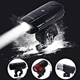 Bike Light LED USB Rechargeable Bicycle Front Light Helmets Lights Powerful 2000mAh/1000 Lumens