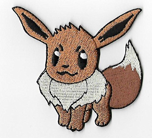 Eevee Pokemon Patch Embroidered Iron on Badge Aufnäher Kostüm Fancy Kleid Pokémon Cosplay