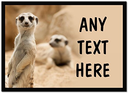 Image of Funny Meerkat Personalised Computer Mouse Mat