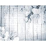 Fototapeten Blumen Blau 352 x 250 cm Vlies Wand Tapete Wohnzimmer Schlafzimmer Büro Flur Dekoration Wandbilder XXL Moderne Wanddeko Flower 100% MADE IN GERMANY - Runa Tapeten 9118011c