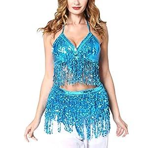 Vovotrade Vestiti da Ballo Latino Jazz delle Ragazze Glitter Vestito di Danza del Ventre della Sfera di Ballo Vestito della Frange Nappa Outfits