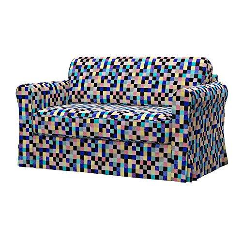 Soferia - IKEA HAGALUND Funda para sofá Cama, Mozaik Blue