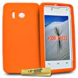 Accessory Master Cover in silicone gel per Huawei Ascend Y300 Arancione
