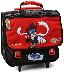 Beyblade - 07051158 - Fourniture Scolaire - Cartable à roulettes - Let it Rip - Red - 38 cm