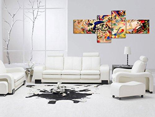 comprare on line Quadro Moderno KANDINSKY COMPOSIZIONE VII - cm 160x70 Stampa su Tela Canvas Arredamento Arte Arredo Astratto Design prezzo