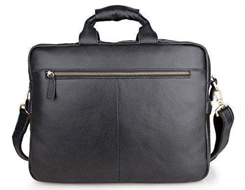 YAAGLE Echtes Leder Business Taschen Wachs-öl-Leder Aktentasche Herren Tasche Handtasche Kuriertasche Schultertasche Reisetasche-rot schwarz