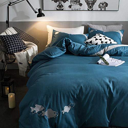 CHINCI GUO Einfache Baumwolle - Vier Stück doppel - Betten - bettwäsche, bettdecken DAS bettlaken Kleine Fische - - Echo Design-bettwäsche-bettdecken