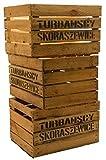 """3er set massive Obstkiste Apfelkiste Weinkiste aus dem Alten Land +++ 49 x 42 x 31 cm (GEBRAUCHT MIT AUFSCHRIFT """"TS"""")"""