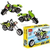 Babytintin Architect Series 3 In 1 Educational Highway Bike Blocks Learning Bricks Toy For Kids (Highway Cruise - 129 Pcs) (3109)