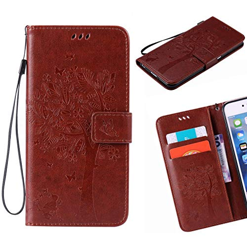 Jonmao HTC One M8 / M8S Hülle, Kaffee Wallet Handyhülle Magnetic Flip PU Leder Stand Schutzhülle für HTC One M8 / M8S