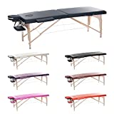 H-ROOT Large 2 Section Lightweight Portable Massage Table Couch Bed Plinth Therapy Tatoo