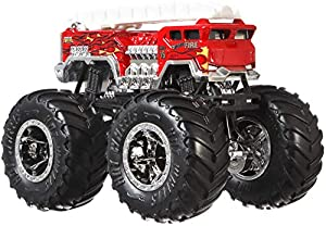 Hot Wheels - Monster Trucks Vehículo 1:64 alarma, coches de juguetes (Mattel GJY17)
