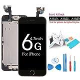 Ibaye Écran LCD tactile de remplacement pour iPhone 6/6G, modèle complet avec bouton Home, caméra frontale et capteur de proximité, haut parleur interne, outils de réparation complets, protection d'écran