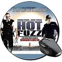 Hot Fuzz Arma Fatal Nick Frost Simon Pegg A Tappetino Per Mouse Tondo Round Mousepad PC