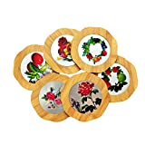 Best Pots  Pans - Yellow Weaves™ 6 Piece Wooden Coasters or Pan Review