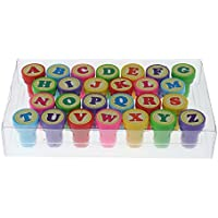 Dcolor26pcs multicolor carta plastic juegete sello para kid