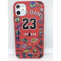 Funda Carcasa de Silicona iPhone 11 Basketball Equipos de Baloncesto Rojo Protección Total