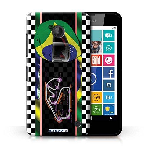 Kobalt® Imprimé Etui / Coque pour Nokia Lumia 630 / Brésil/SãoPaulo conception / Série F1 Piste Drapeau Brésil/SãoPaulo