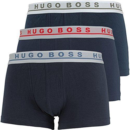 Hugo Boss Herren Trunk 3P CO/EL Boxershorts (3er Pack) Mehrfarbig (Open Miscellaneous 968)