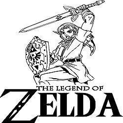 zhuziji Manga Legend of Zelda Link Juegos DIY Wall Art Sticker/Decal Adesivo De Parede Mural Dormitorio de los niños Decoración para el hogar Wallpap Negro 70x96cm