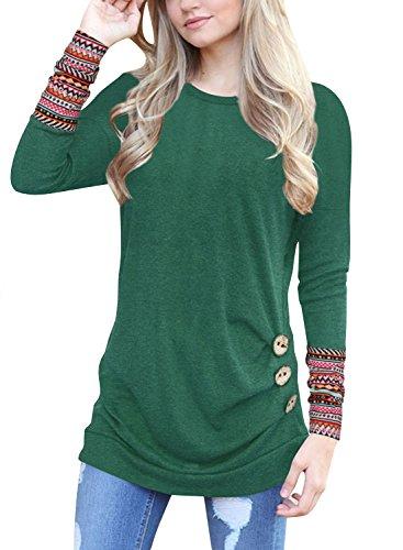 Lylafairy Lässig Shirt, Damen Langarm Oberteile Herbst Sweatshirt Rundhals  Elegant Casual T-Shirt Tops b1cb315040