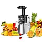 JAP Appliances SJ6188 - Estrattore di frutta e verdura intera - Slow juicer verticale lento - Motore...