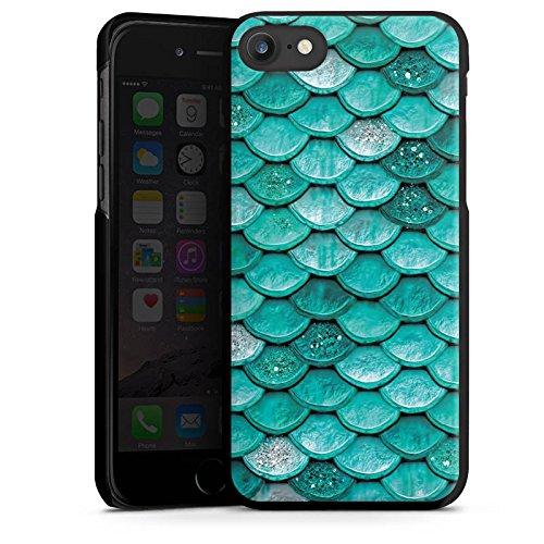 Apple iPhone SE Hülle Case Handyhülle Meerjungfrau Schuppen Mermaid Hard Case schwarz