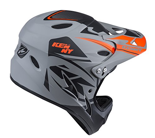 KENNY Kinder Downhill Helm, Grau / Schwarz, X-Small