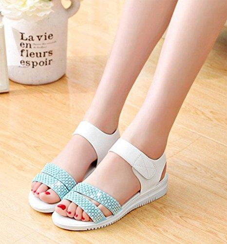 Flache Schuhe mit rutschfesten weichen Böden flacher Sandalen Frauen D