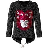 BEZLIT Mädchen Wende-Pailletten Sweatshirt Pullover Pulli 21678 Schwarz Größe 152