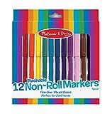 #9: Melissa & Doug 4221 Non-Roll Markers,Multi Color