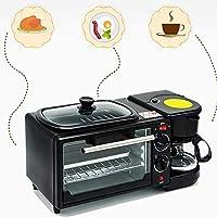 LJ-MBJ Breakfast Maker, Multifunción Completamente automático Tostadoras, Horno Máquina de café,