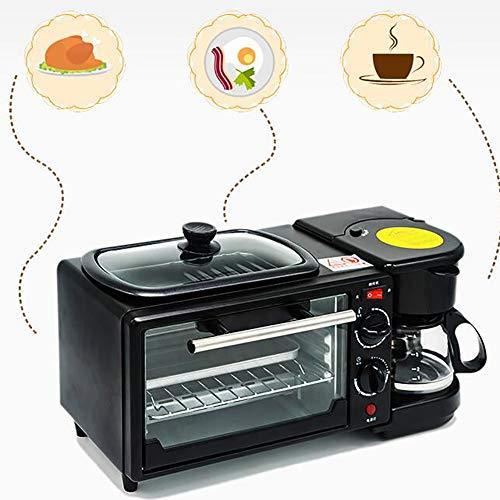 LJ-MBJ Frühstück Maker, Multifunktion Vollautomatische Toaster, Ofen Kaffee aus Dem automaten, 3 in 1 Frühstück Maschine, Pflegeleicht, Anti-verbrühende Isolierte Spitze-A