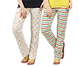 #2: Peach Blossom Womens Nightwear pant combo of 2