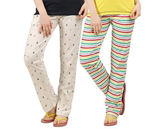 PEACH BLOSSOM Womens Nightwear Pant Combo of 2 (XXL)