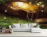 Chlwx 3d tapete 350cmX240cm (137.8inX94.385in) 3D Fototapete Zimmer Hd Wandbild Märchenwald Wunderland Malerei Sofa Tv Hintergrund Wall 3D Wallpaper Wandbild