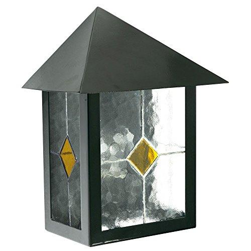 Wand Leuchte Außen Beleuchtung Strahler Glas Tiffany Dekor Lampe Edelstahl E27 -