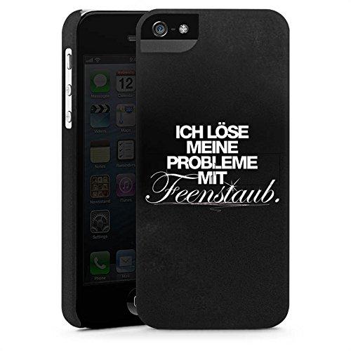 Apple iPhone X Silikon Hülle Case Schutzhülle Sprüche Schwarz Fee Premium Case StandUp