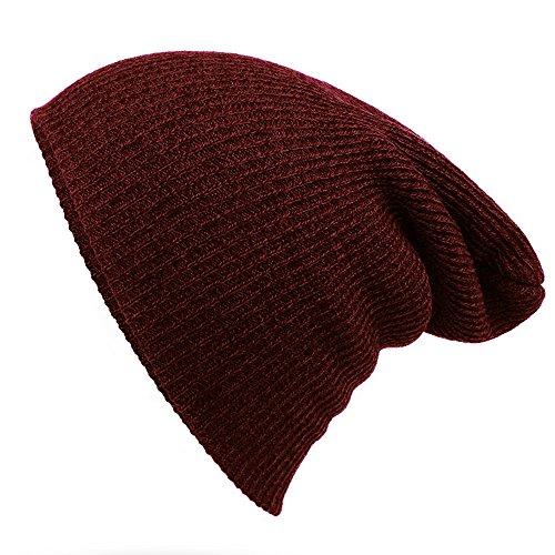 Striped Needle cappello caldo - di lusso alla moda Wool Cap iParaAiluRy unisex morbido Slouchy Knitting in inverno e primavera - Angelo Visiera Clip