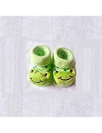 HuntGold chaussure bébé mignon unisexe en coton design de animation 3D(grenouille)