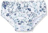 Chicco Costume da Bagno Slip Pannolino Contenitivo Costume Pannolino, Bimba 0-24, Turchese (Bianco E Azzurro 032), 56 (Taglia Produttore:056)