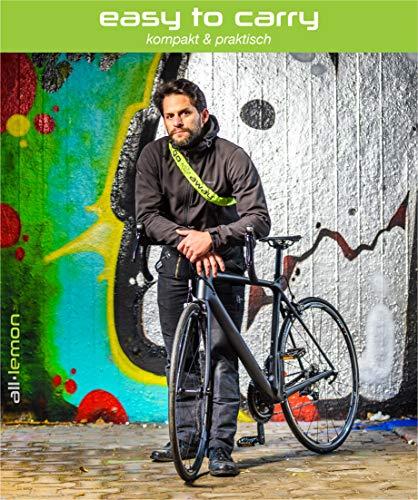 Fahrradschloss mit Zahlencode und extra starker Kette: ALL LEMON – Zahlenschloss mit 90 cm Länge und 5-stelligem Sicherheits-Code im urban street style | Sicherheitsschloss für Fahrrad, Mofa und Motorrad | Kettenschloss (Neongrün) - 8