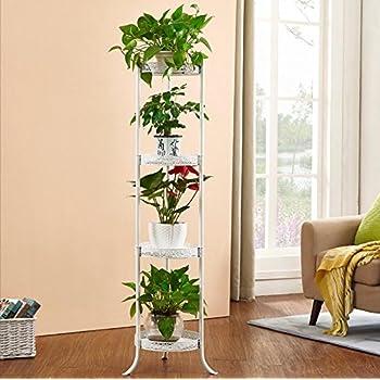 Porte plante de style europ en simple balcon fer tage style flower rack multi couches for Porte plante fer forge blanc