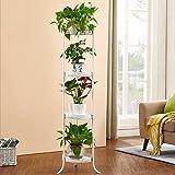 Porte-fleur de style européen en fer forgé/Stand Multi-fonctionnelle plante fleur étagère balcon intérieur de la salle de séjour