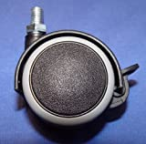 Möbelrolle 50mm Hartbodenrollen Gummi Gewinde M8x15mm mit Festststeller
