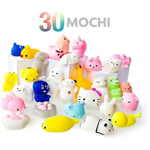 juguetes kawaii Juguetes Mochi Squishys - Pack de 30 Squishys - Gato Mochi Squishy, Squishy Panda, Animales Mochi - Squishys Kawaii Jumbo - Squishys Para Llavero Correa