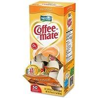 Coffee-mate Hazelnut Creamer, .375 oz., 50 Creamers/Box by Coffee-mate